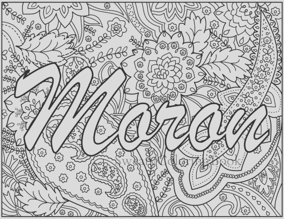 moron swear words coloring page from the