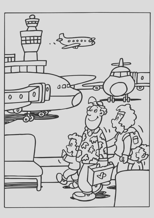 coloring page airport i6564
