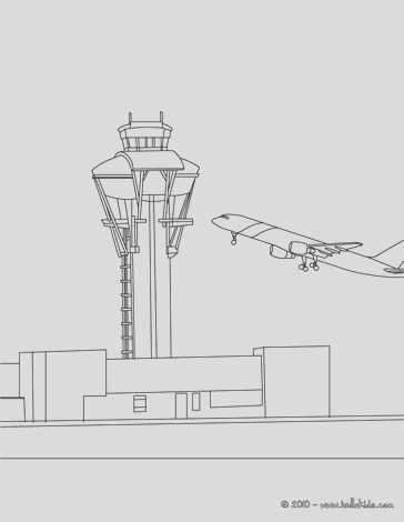 control tower at the airport