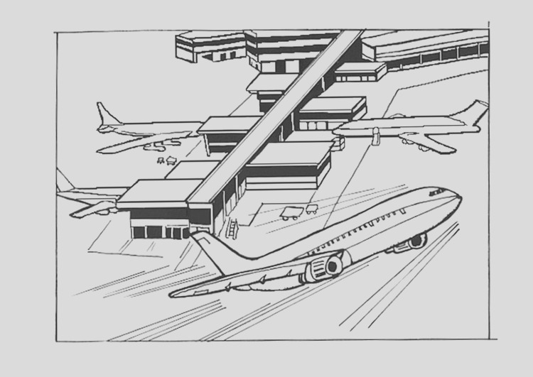 coloring page airport i9534