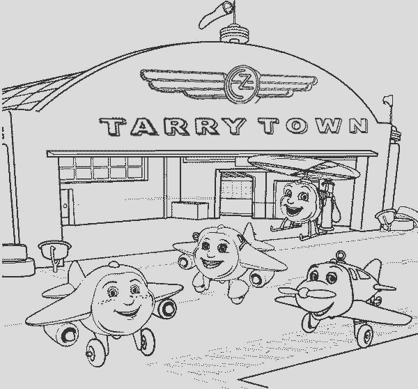 tarry town airport where little airplanes gather coloring page