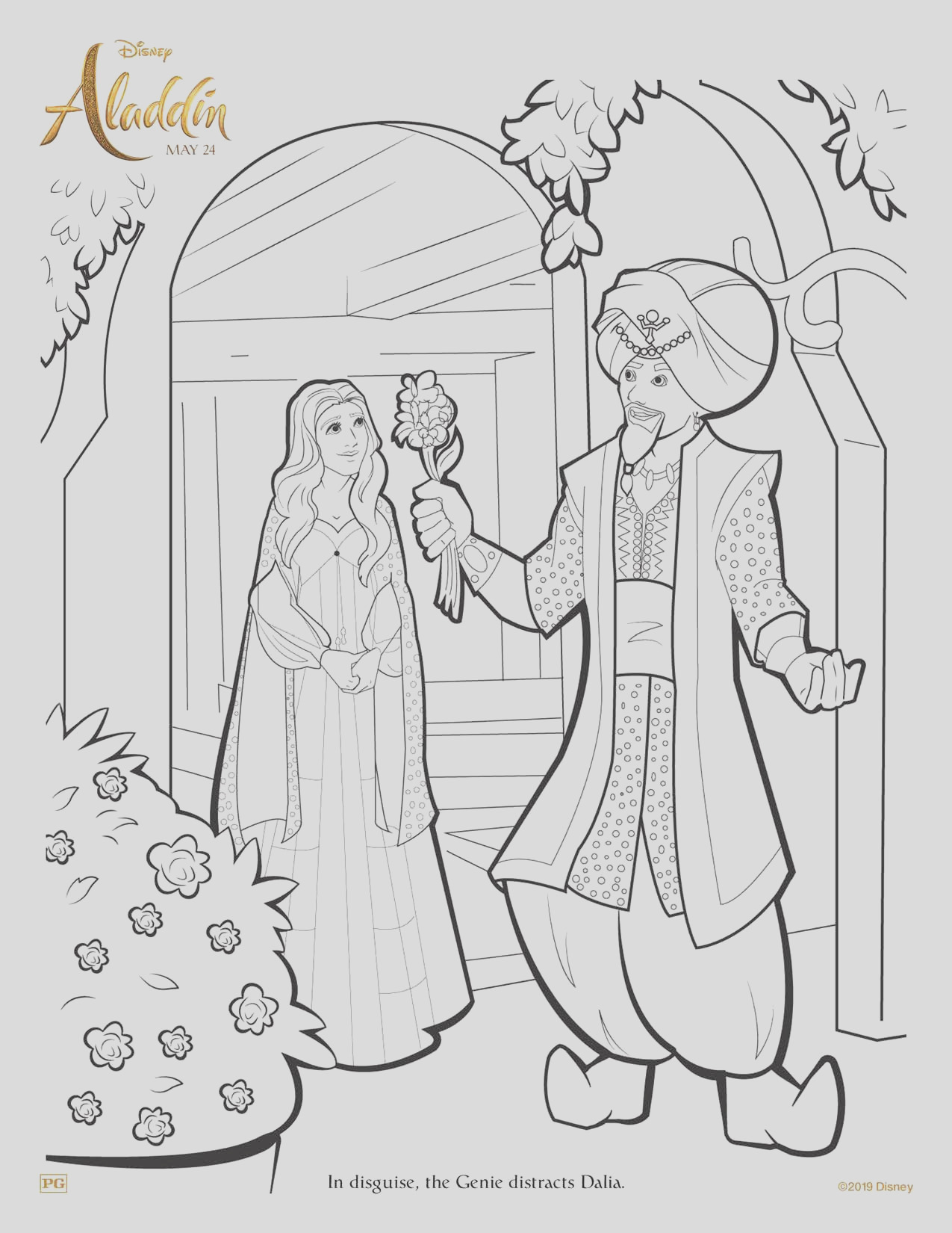 aladdin coloring pages and printable activity sheets
