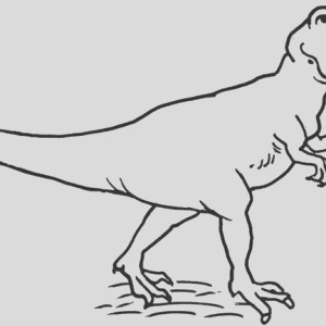 picture of allosaurus coloring page