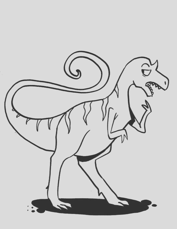 allosaurus is confusing coloring page