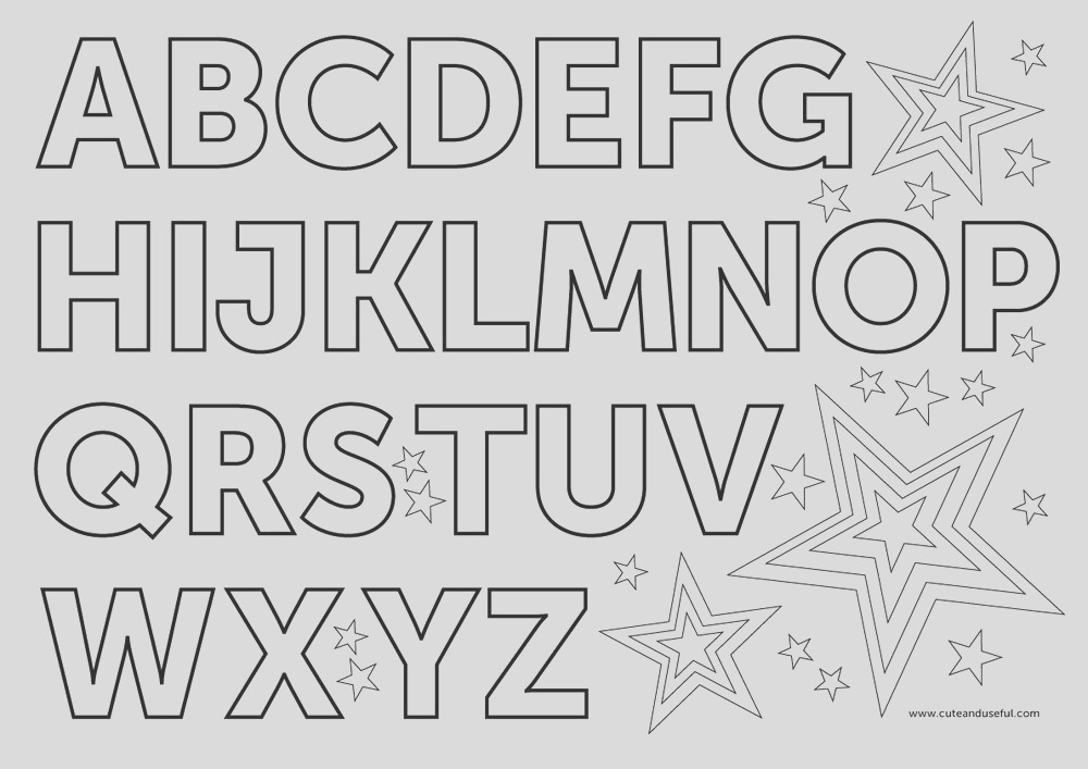english alphabet coloring pages 1