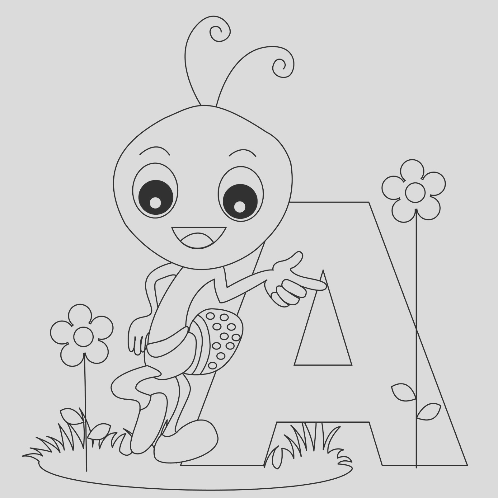 animal alphabet letter coloring