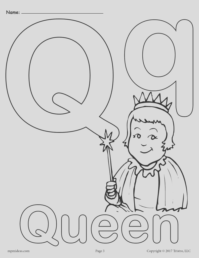 letter q alphabet coloring pages 3 free printable versions a7510
