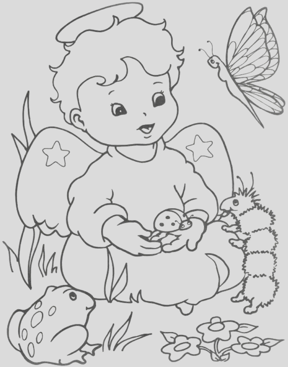 angel coloring pictures