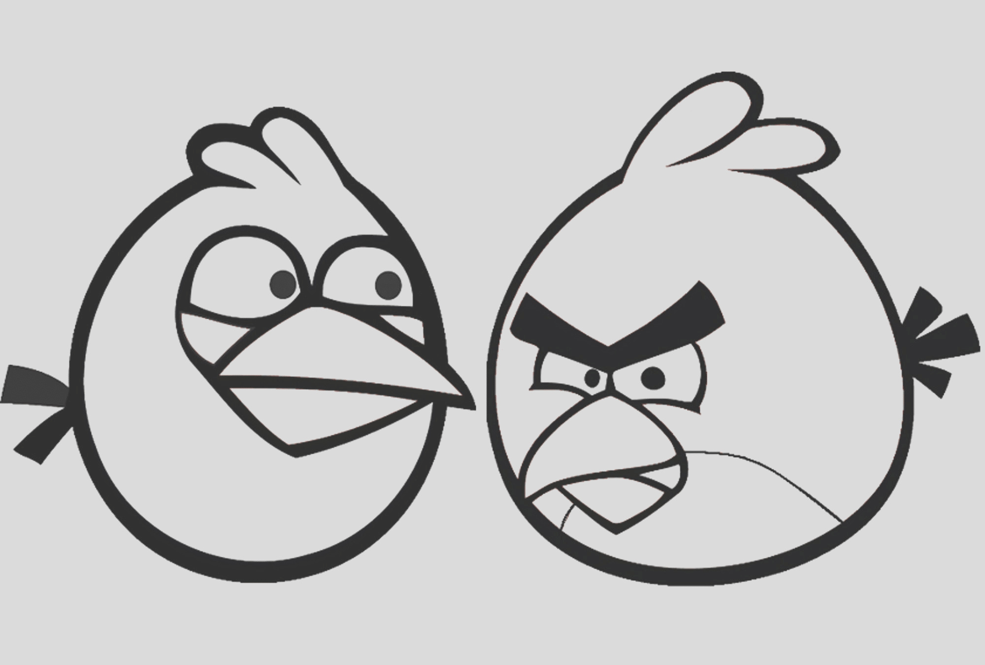 angry birds coloring pages small kids