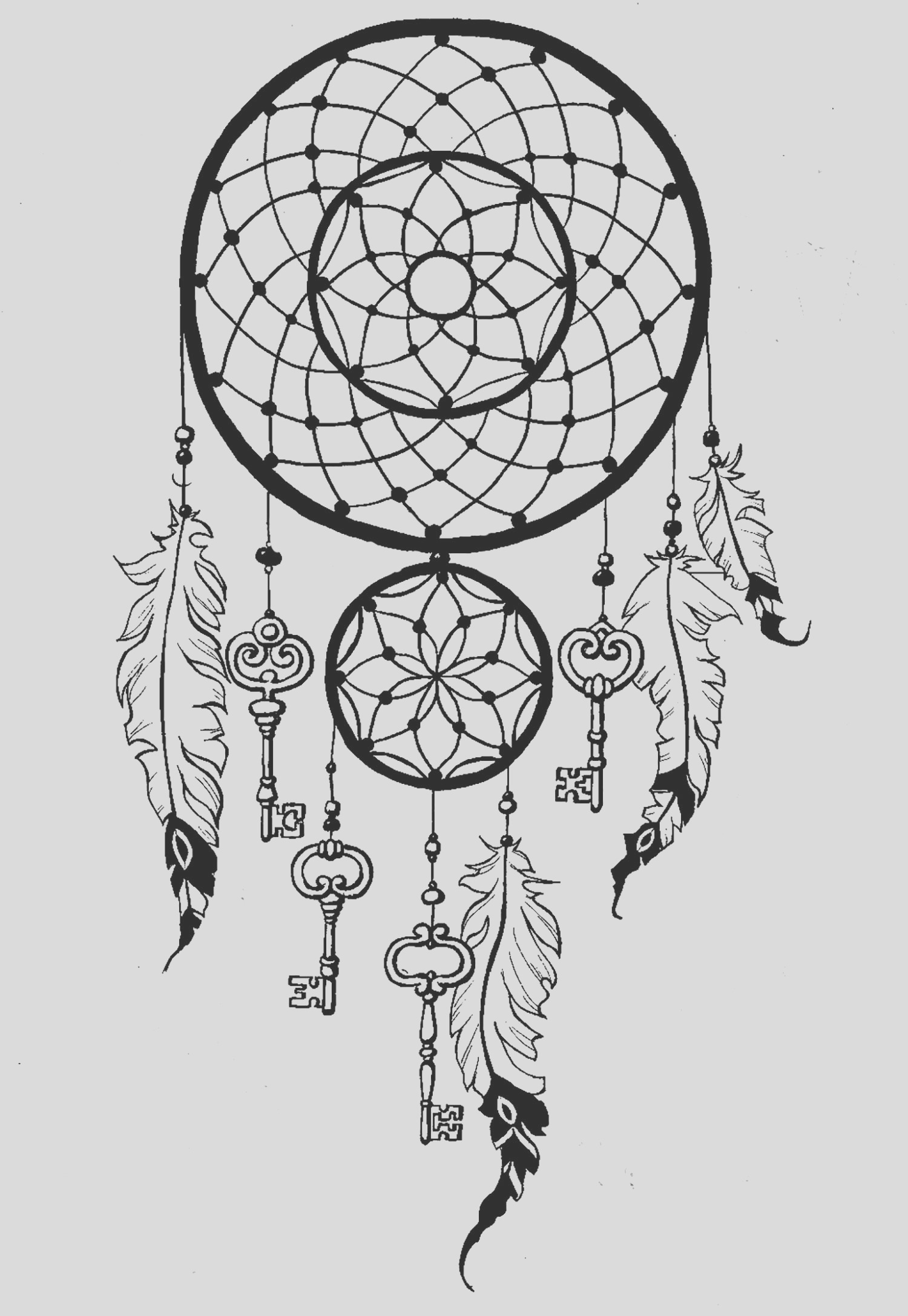 image=anti stress coloring page dreamcatcher keys 1