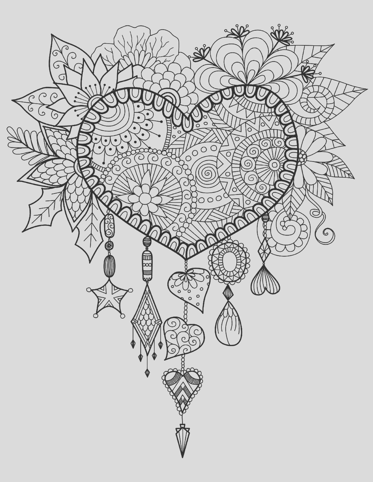 image=anti stress coloring page heart dreamcatcher 1