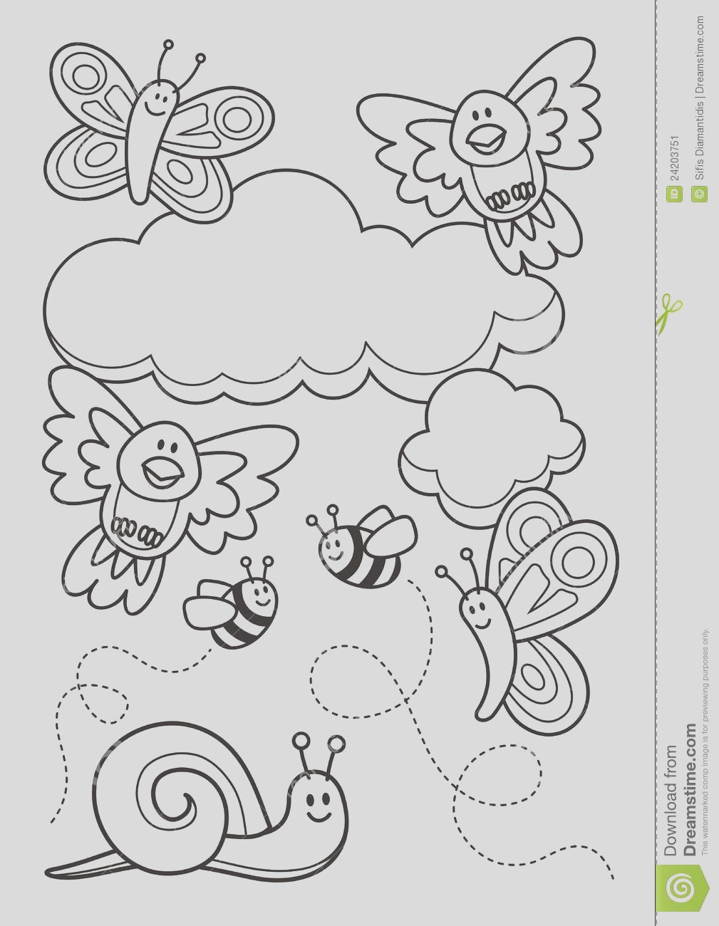 stock image baby animals coloring book image