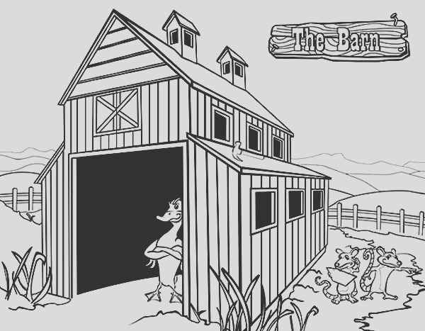 the barn the series coloring page
