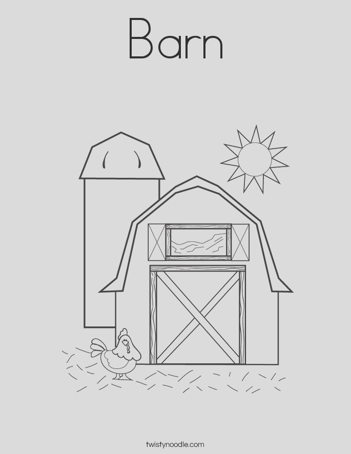 barn 3 coloring page