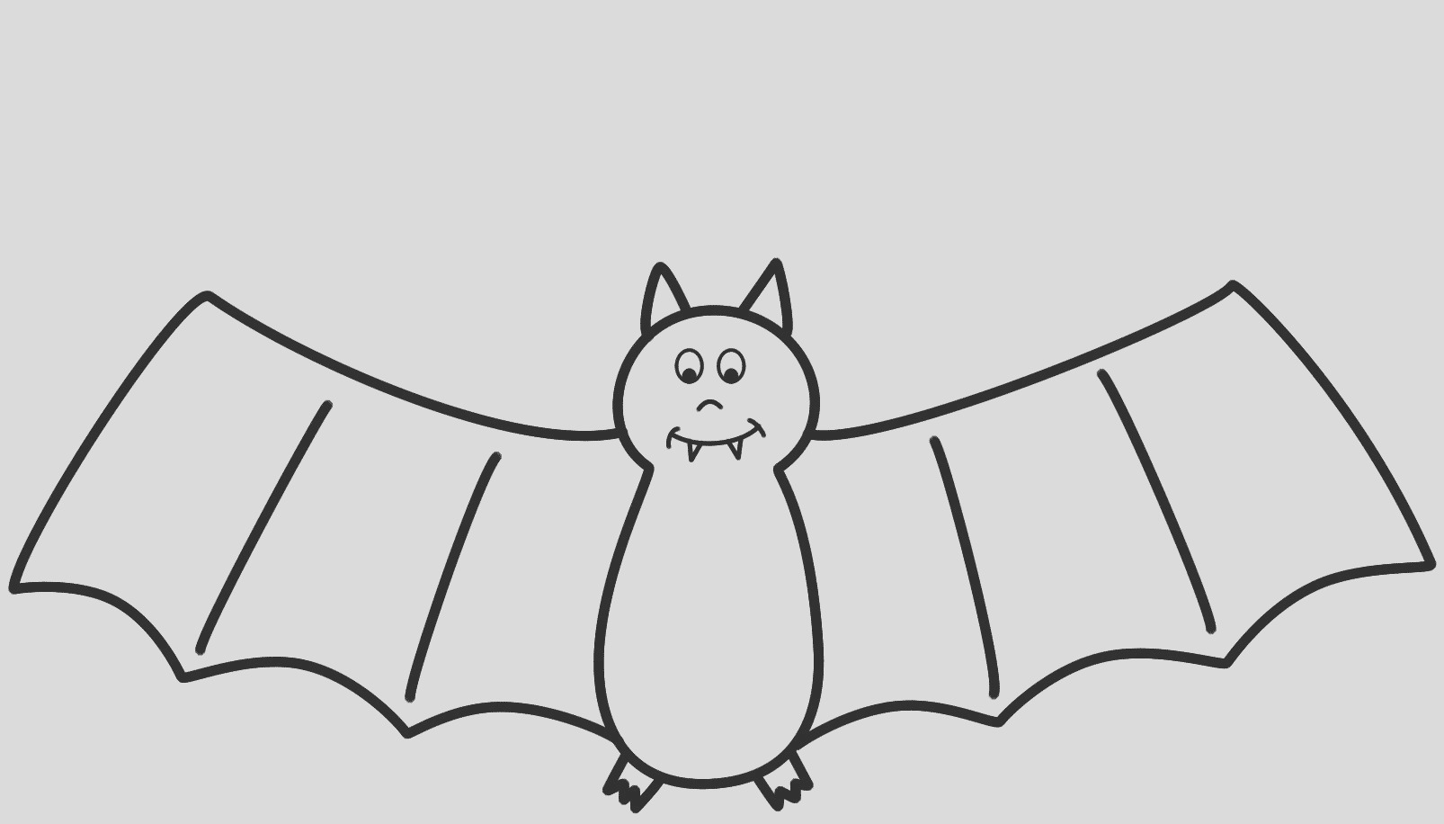 bat drawing outline
