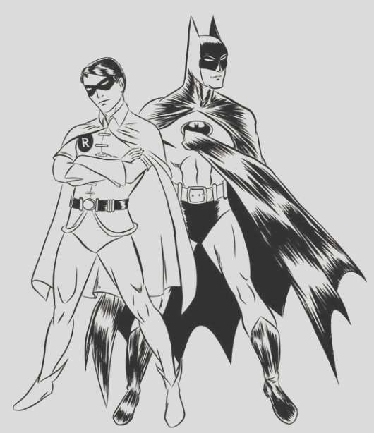 robin batman coloring pages boys