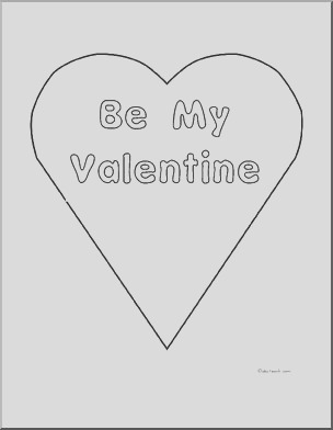 coloring page be my valentine