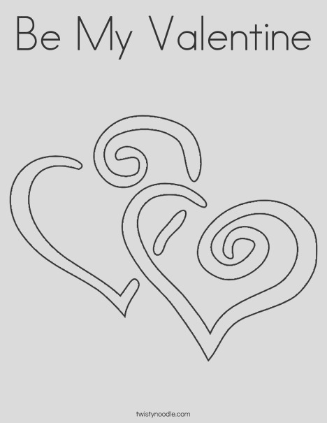 be my valentine 3 coloring page