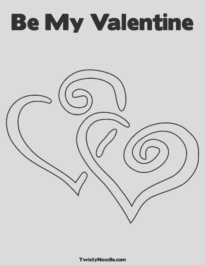 be my valentines coloring pages 13