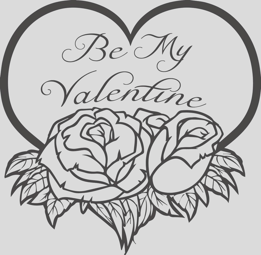 be my valentine coloring page a4511