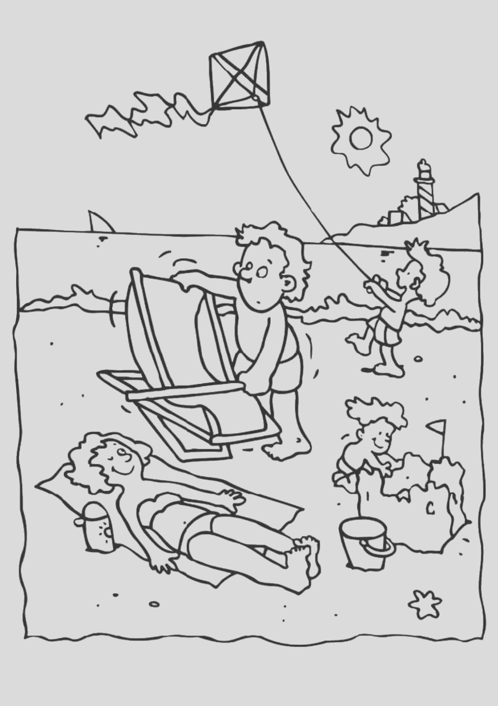 beach coloring pages