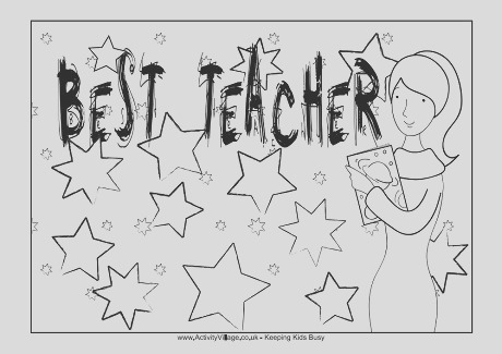 best teacher colouring page