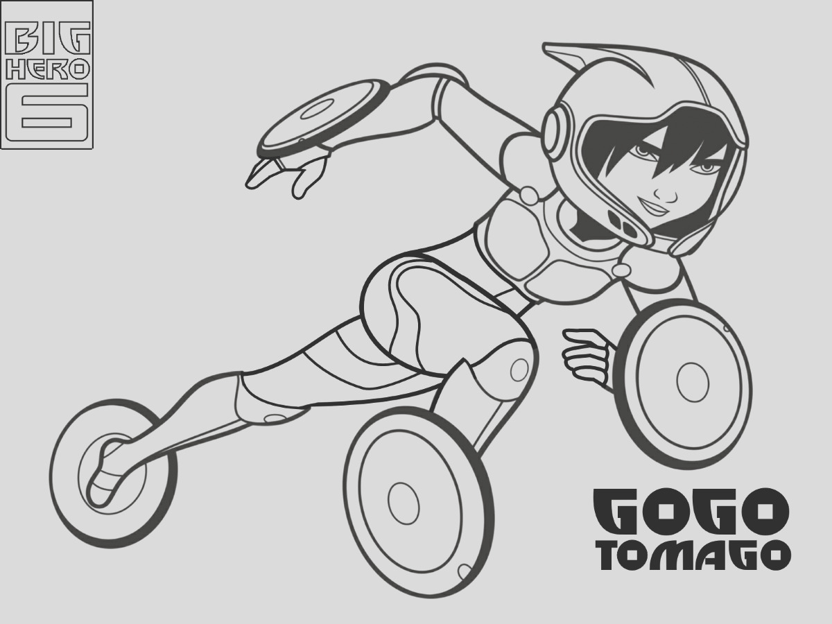 big hero 6 coloring pages