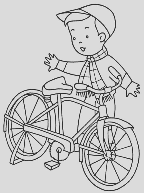 bicycle coloring pages bike coloring