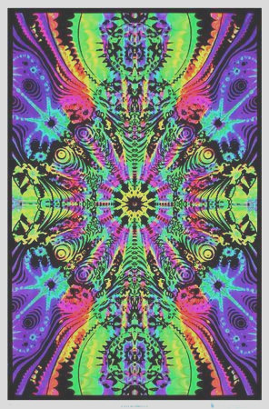 Wormhole Blacklight Poster Print Posters i