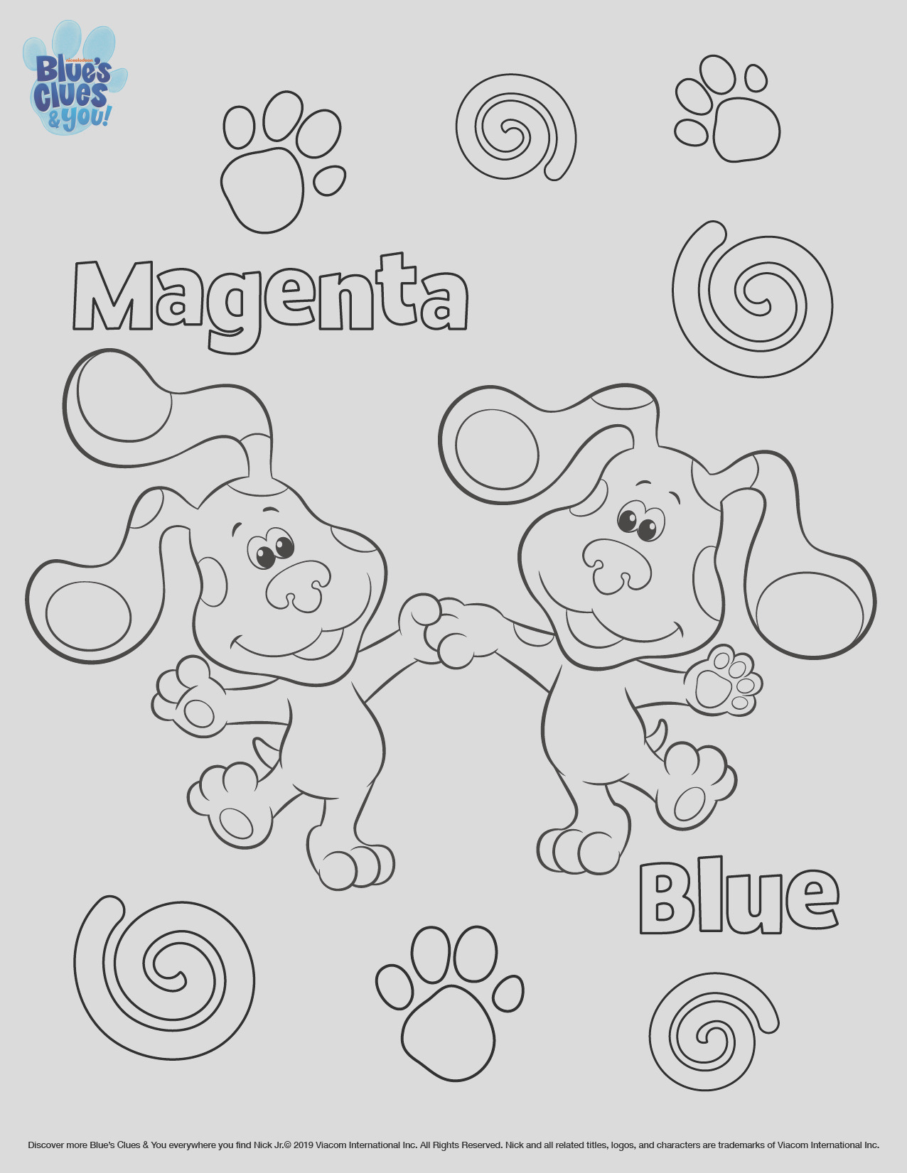 blues clues you printable coloring page