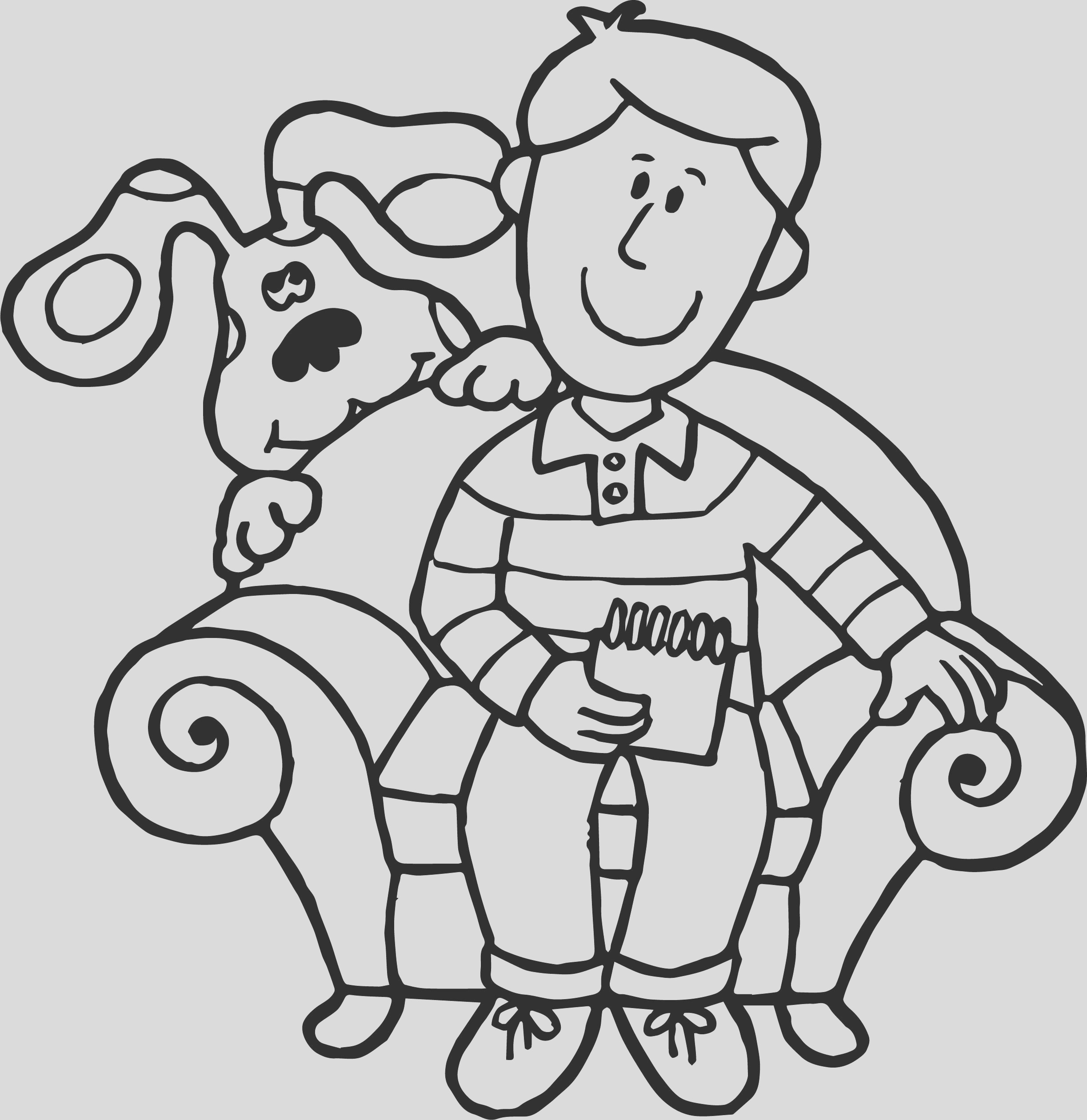 blues clues man coloring page