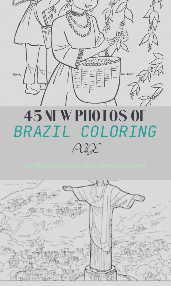 Brazil Coloring Page Beautiful Children Of Other Lands 1954 — Hawaii Alaska Mexico
