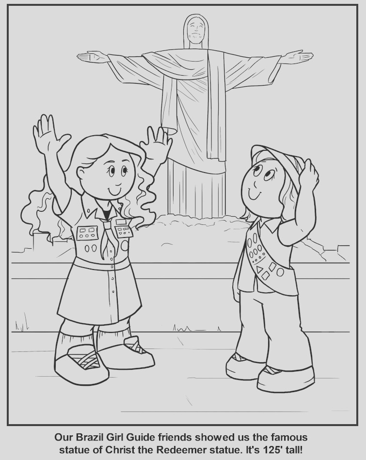 coloring page brazilian girl guide
