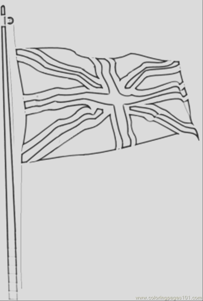 9623 flag of great britain coloring page