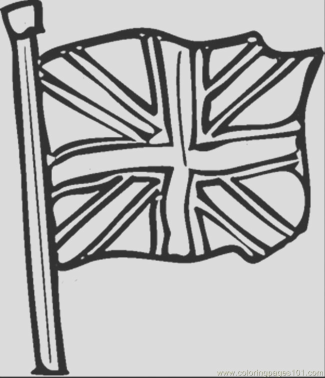 9616 british flag coloring page