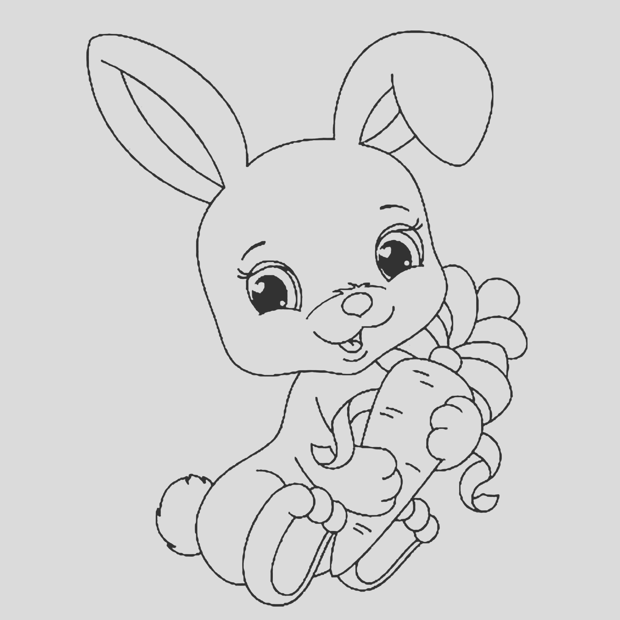 image=rabbit coloring pages for children rabbit 1