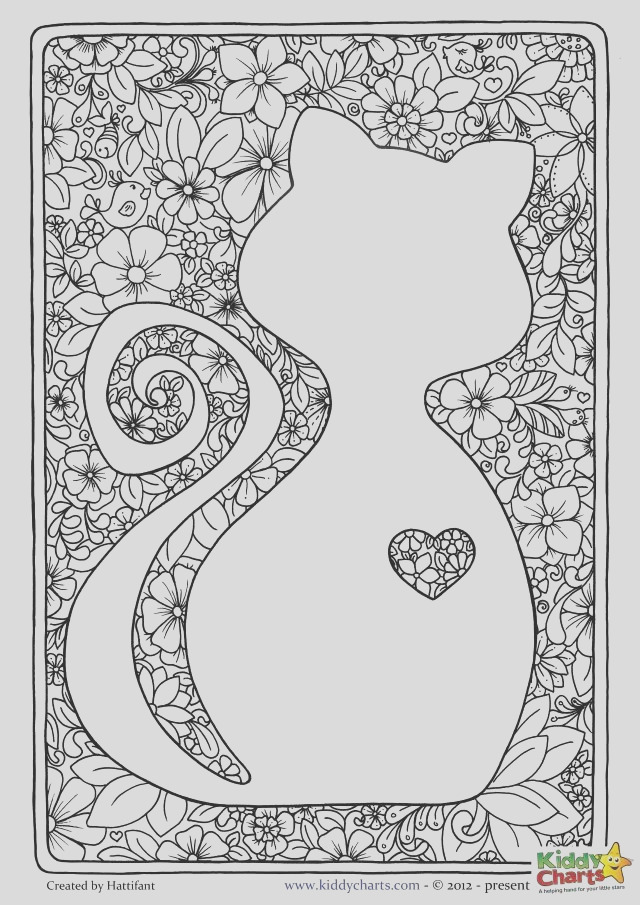 cat mindful coloring pages to her