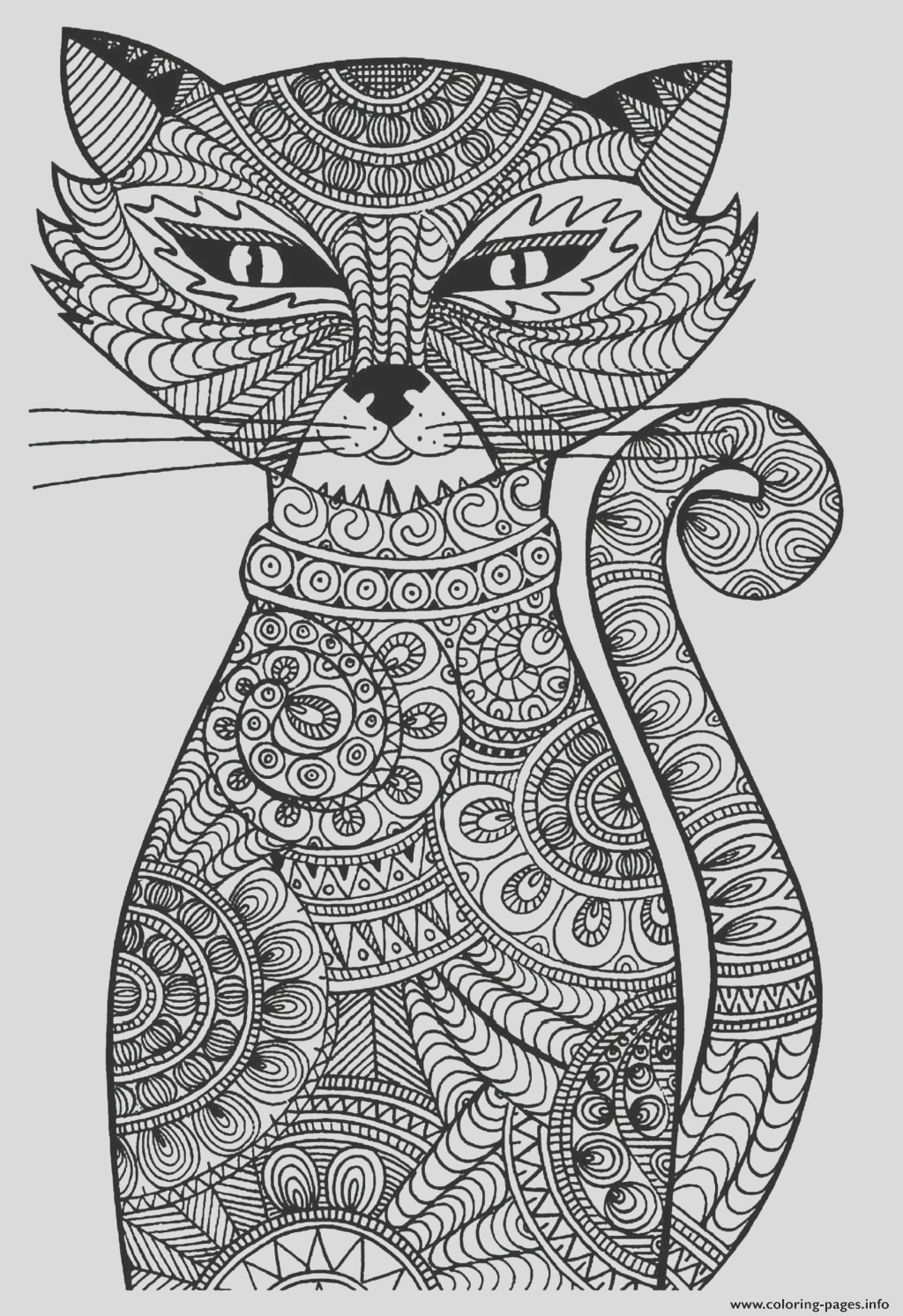 adult cat printable coloring pages book 3518