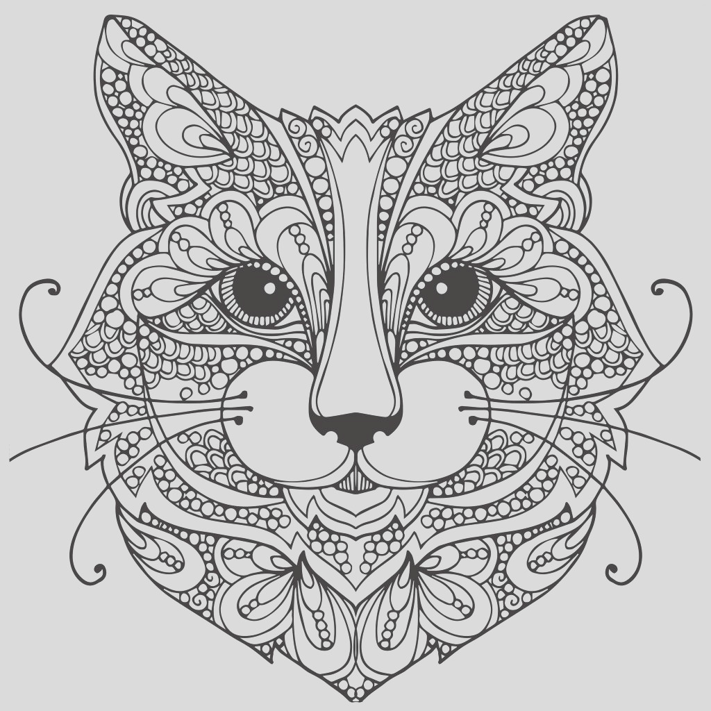 cat coloring pages for adults