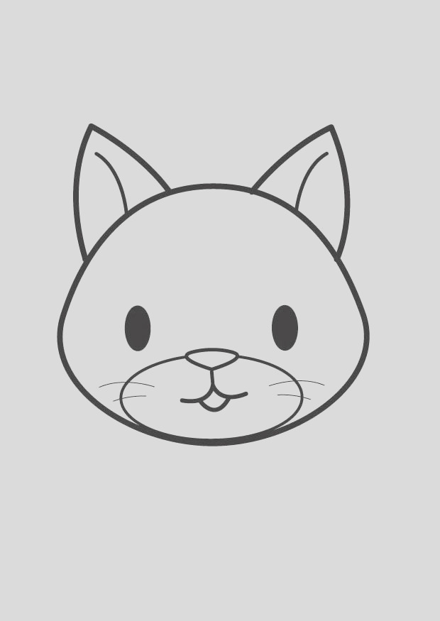 coloring page cat head i