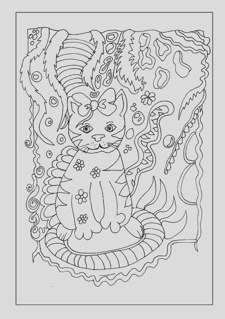 ice cream cat drawing fine art pen