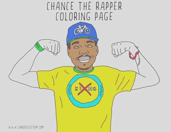 chance the rapper adult coloring page