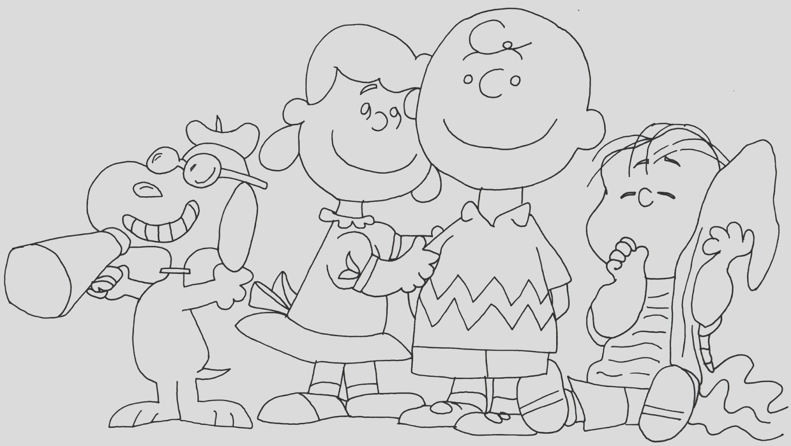 snoopy printable coloring pages