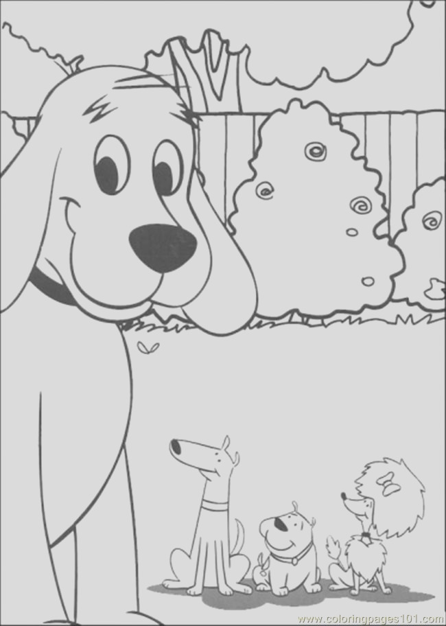 clifford and friends to her coloring page