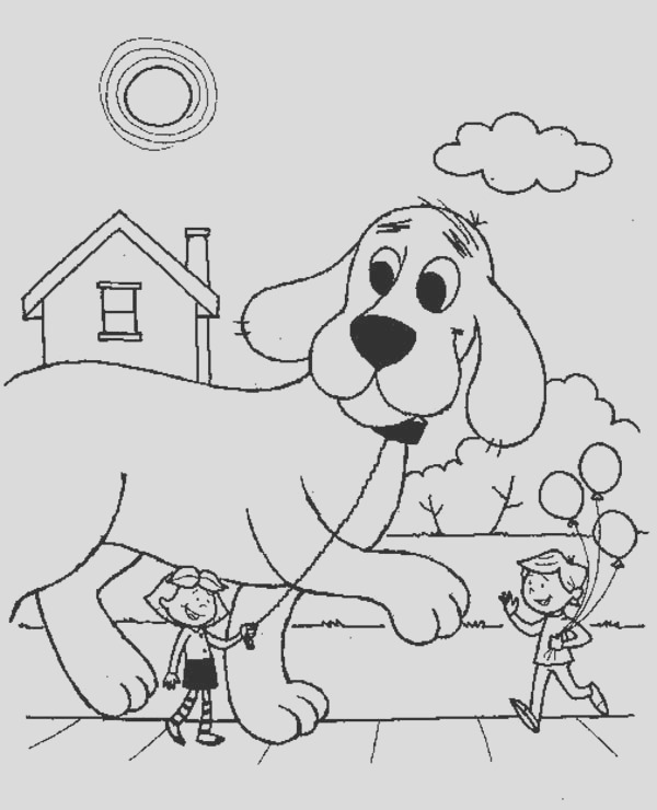 coloring pages of clifford the big red dog