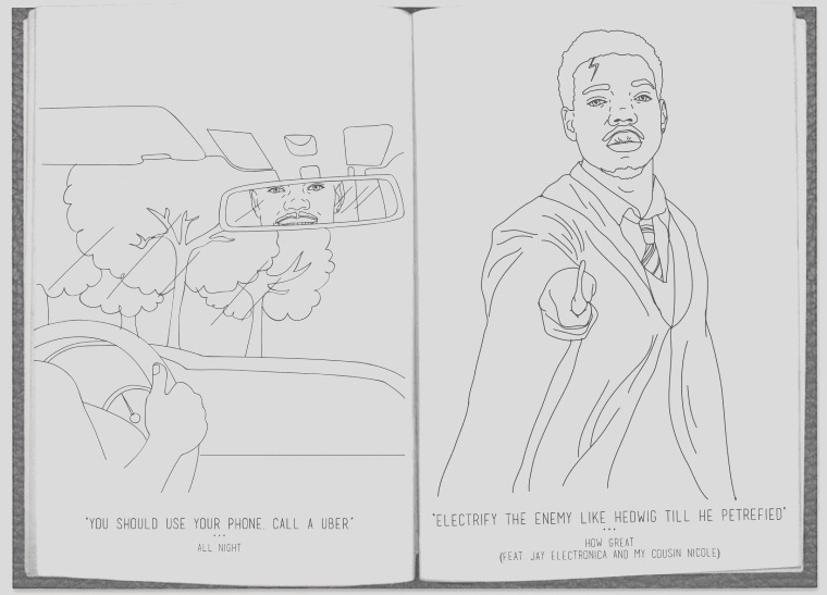chance the rapper coloring book real color