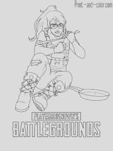 playerunknowns battlegrounds pubg coloring pages