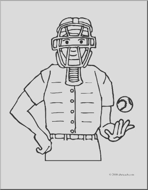 baseball umpire clipart