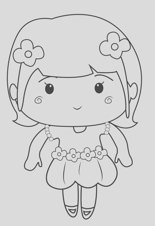 stock illustration little girl wearing dress coloring page useful as book kids image