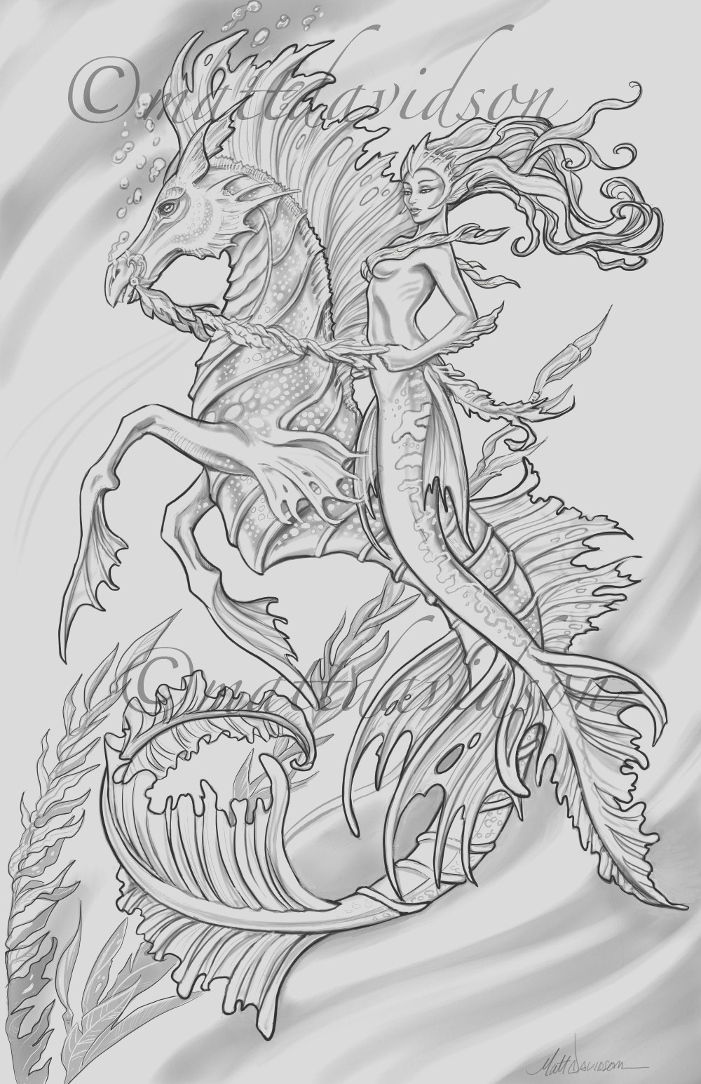 aquilla and her steed morceffyl seahorse